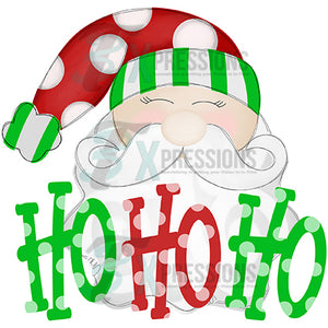 Ho Ho Ho Santa With polkadot Hat