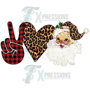Peace Love Santa Leopard