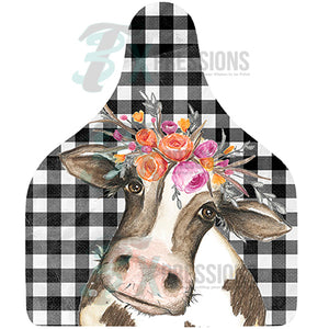 Cow with Flowers, Cow Tag