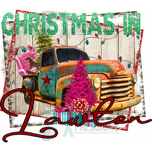 Personalized Rusty Truck Christmas In