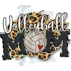 Volleyball Mom Leopard