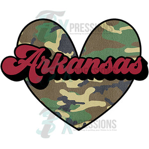 Arkansas Camo heart