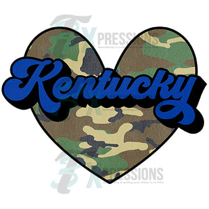 Kentucky Camo Heart