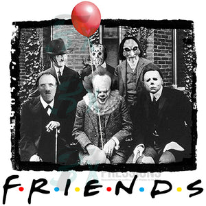 Friends Halloween Red Balloon