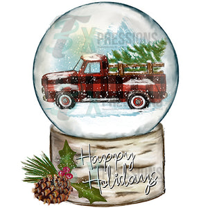 Buffalo Plaid Snow Globe