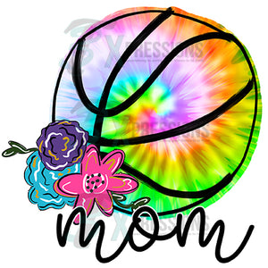Tie Dye Basketball Mom