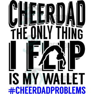 Cheer Dad Wallet Flip