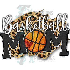 Basketball Mom Leopard background
