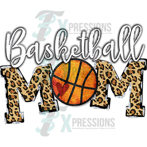 Basketball Mom Leopard Fill