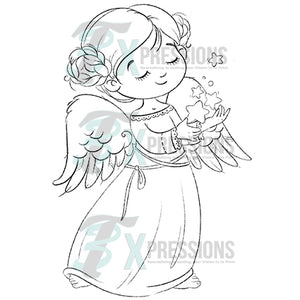 Christmas Angel Coloring design