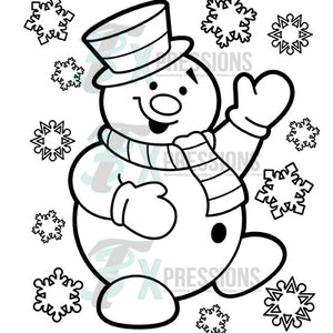 Frosty Coloring Design