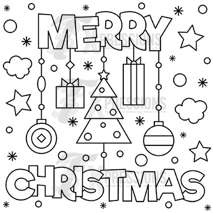 Merry Christmas Coloring Design - 3T Xpressions
