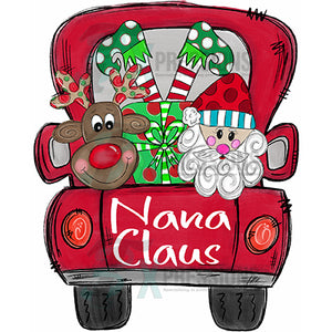 Personalized Red Santa Christmas Truck
