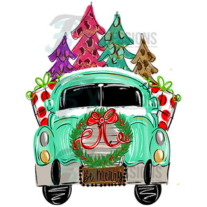 Be Merry Truck with Wreath