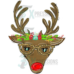 Christmas Deer with Glasses