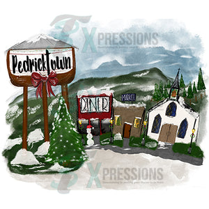 Personalized Small Town Scene