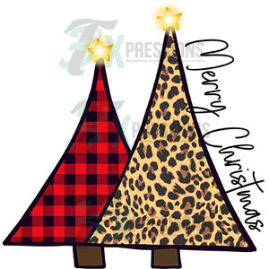 Merry Christmas 2 Triangle Trees
