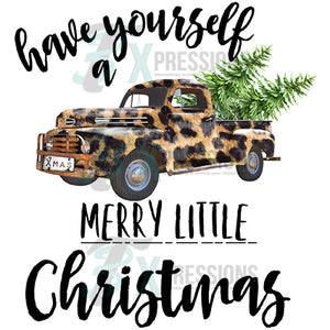 Have Yourself a Merry Little Christmas Leopard Truck