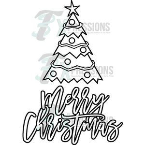 Merry Christmas Tree Coloring shirt