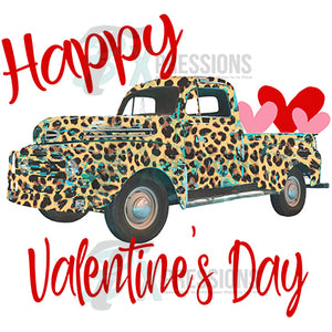 Happy Valentines Day, Leopard Truck