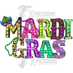 Mardi Gras Marquee letters