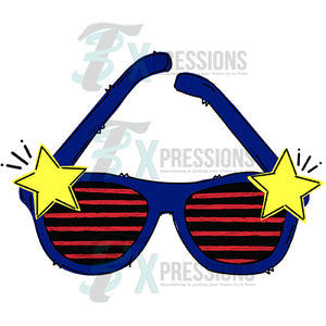 HTV Red White Blue Sunglasses