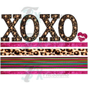 XOXO Leopard and Serape Lines under