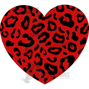Red Leopard Print Heart