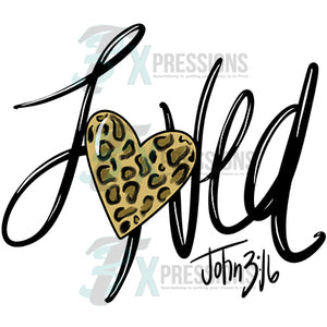 Loved John 316 Leopard Heart