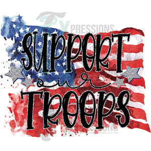Support our Troops Flag background