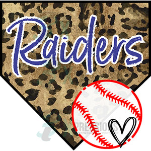 Personalized Leopard Baseball Diamond