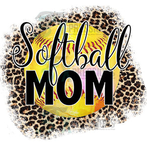Softball Mom Leopard background