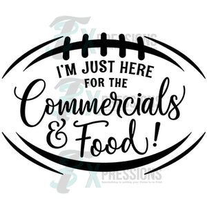 I'm Just here for the Commercials and Food Superbowl