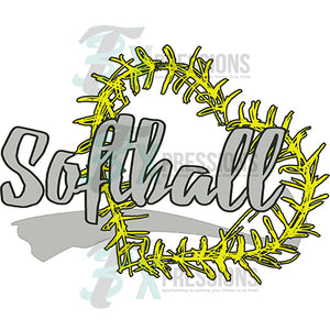 Softball Stitch Heart