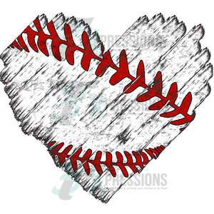 Distressed Baseball Heart