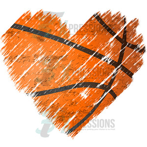 Distressed Basketball Heart
