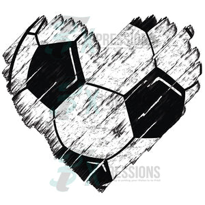 Distressed Soccer Heart