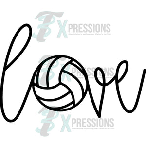 Love Volleyball black
