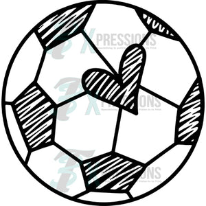 Soccer ball with hearts