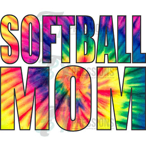 Softball Mom Tie Dye