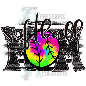 Softbal Mom Tie-dye
