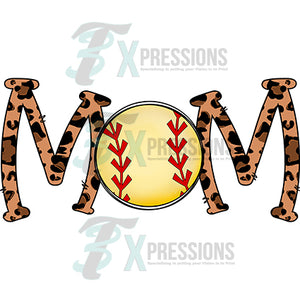 Softball Mom Leopard letters