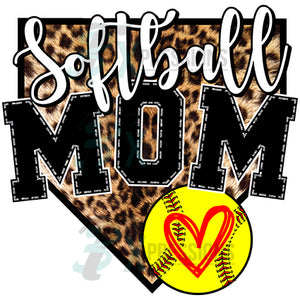 Softball Mom home Plate