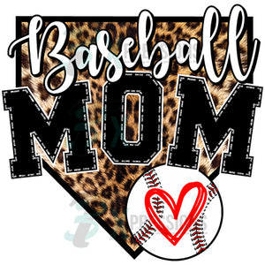 Baseball Mom home plate
