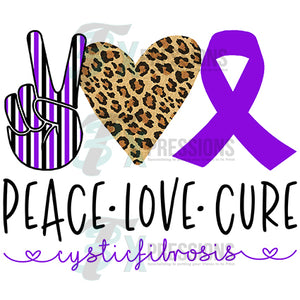 Peace Love Cure Cystic Fibrosis