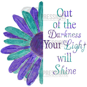 Out of the darkness into the light, awareness