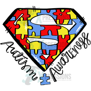 Autism Awareness Superman