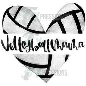 Volleyball Mama Heart