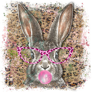 Bunny with glasses hot pink