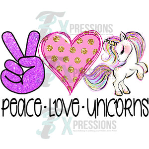 Peace Love Unicorns